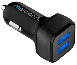 Car Charger, Maxboost 4.8A/24W 2 USB Smart Port Car Charger