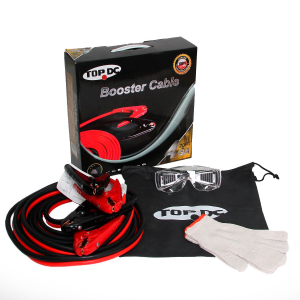 Heavy Duty Booster Cables with Carry Bag and Safety Gloves