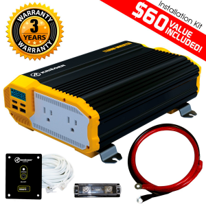 KRIËGER 1100 Watt 12V Power Inverter Dual 110V AC outlets