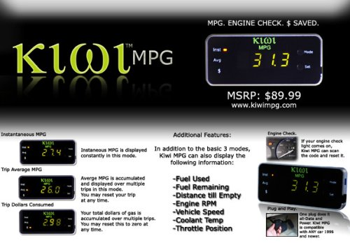 PLX Kiwi MPG Trip Calculator - XL Race Parts