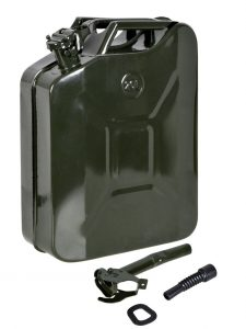 TMS 5 Gal 20L Gasoline Gas Fuel Caddy Tank Emergency Backup Army Military