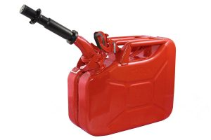 Wavian USA JC0010RVS Authentic NATO Jerry Fuel Can and Spout System Red