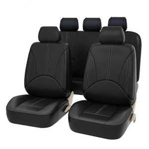 CAR PASS - 11PCS Elegant Luxurous PU Leather Automotive Universal Seat Covers Set Package
