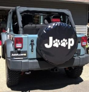 Dee-Type Paws Spare Wheel Tire Cover Fit Jeep Wrangler