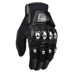 ILM Alloy Steel Knuckle Motorcycle Motorbike Powersports Racing Tactical Paintball Gloves