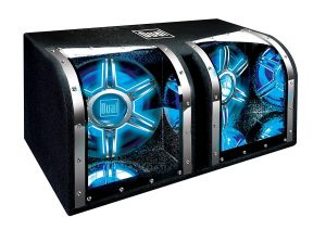 Dual Electronics BP1204 12 inch illumiNITE High Performance Studio Enclosed Car Subwoofers